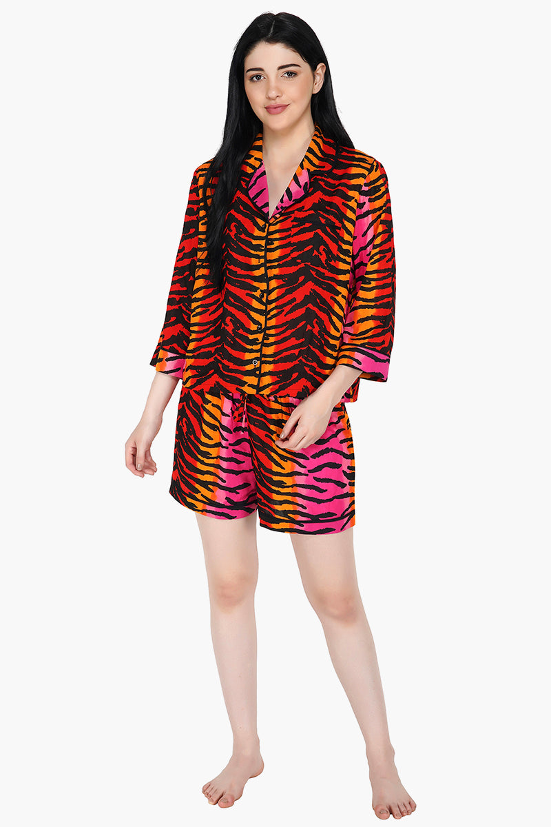 Tantilizing Tiger Loungewear Shorts Set
