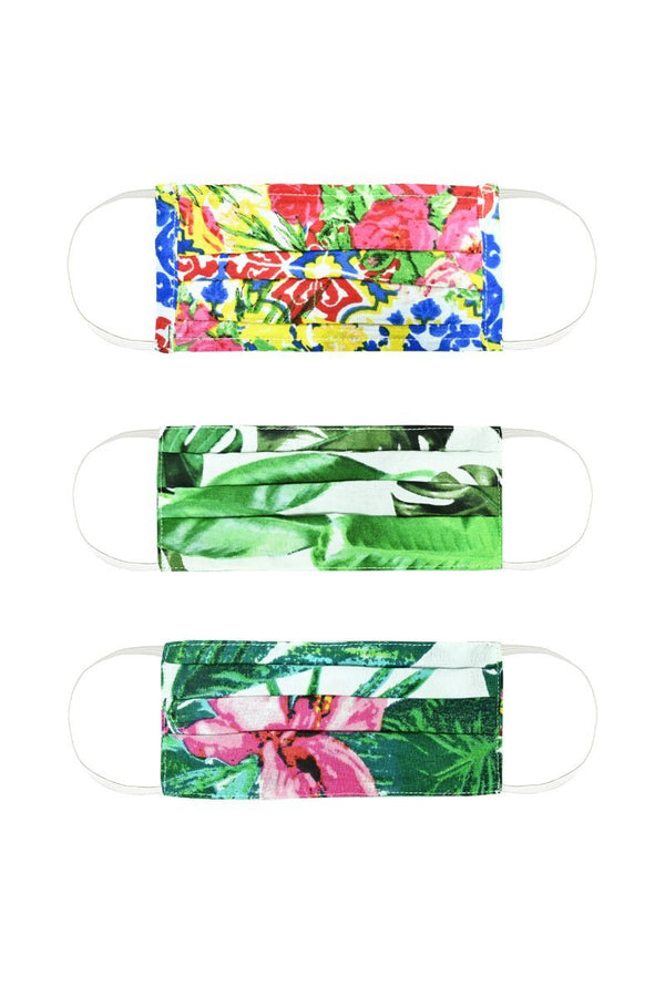 Color Pop Floral Mask Set