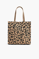 Leopard Handwoven Jute Brown Tote With Tassel