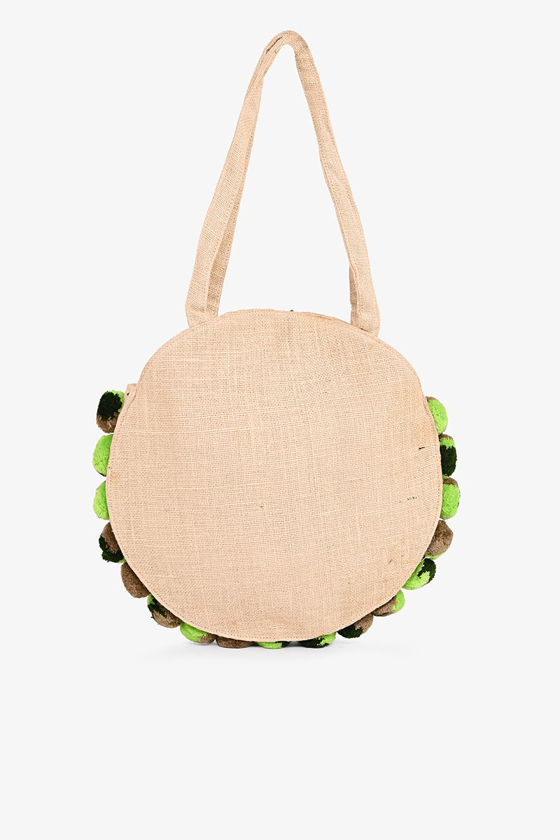 Frosted Pineapple Jute Round Tote | Boho Travel Bags