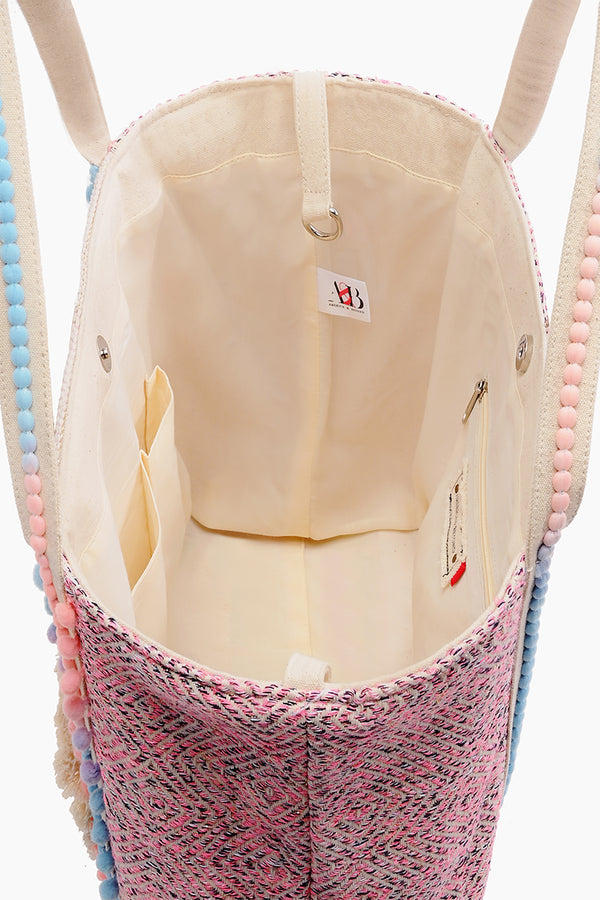 Bubble Gum Embroidered Shoulder Bag