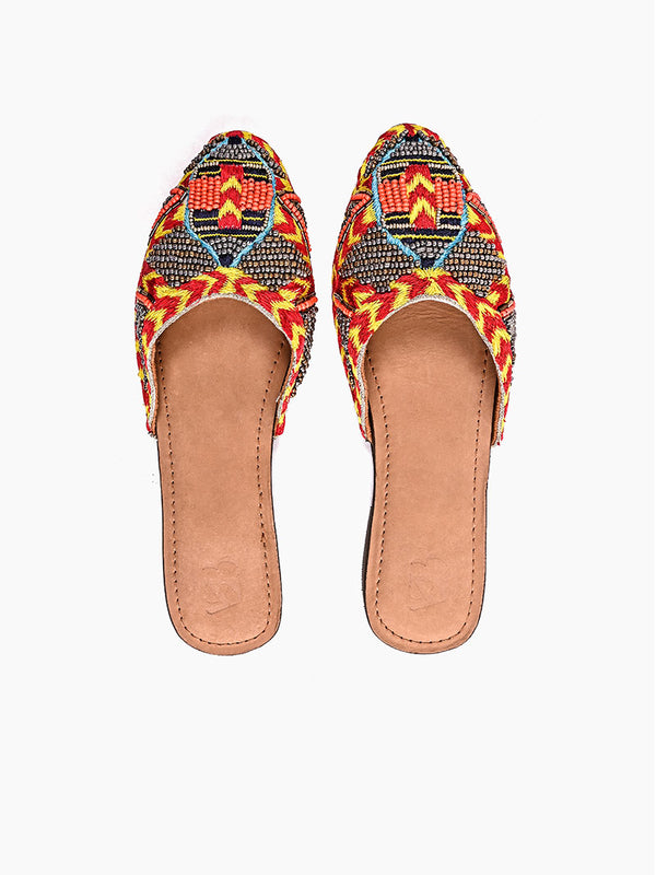 Navajo-Beaded Mule Shoes