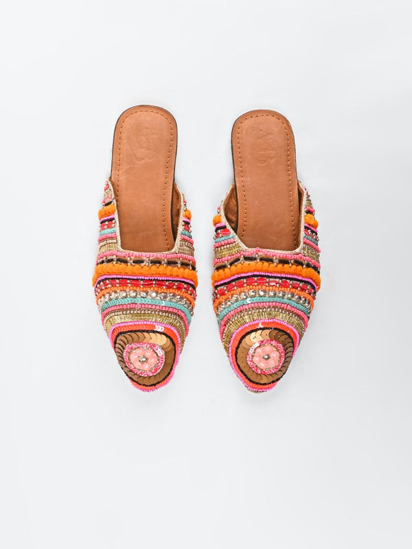 Paradise Embellished Mule Shoes