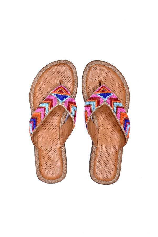 Aztec Color Pop Thong Sandals