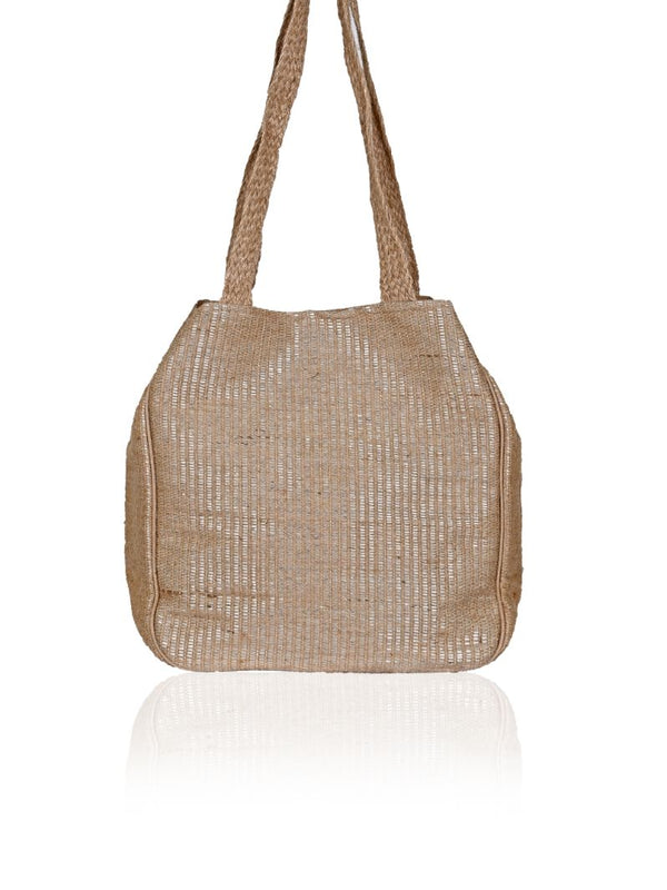 Cosmos Embellished Jute Tote
