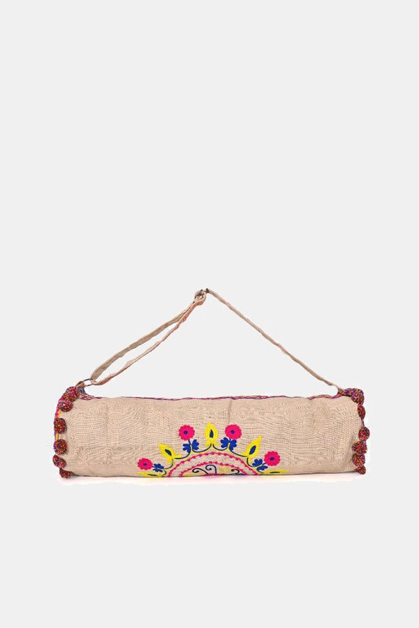 All is Well Embroidered Yoga Bag
