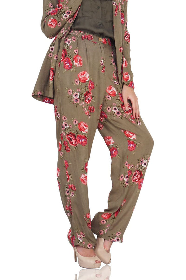 Flowery Print Trousers