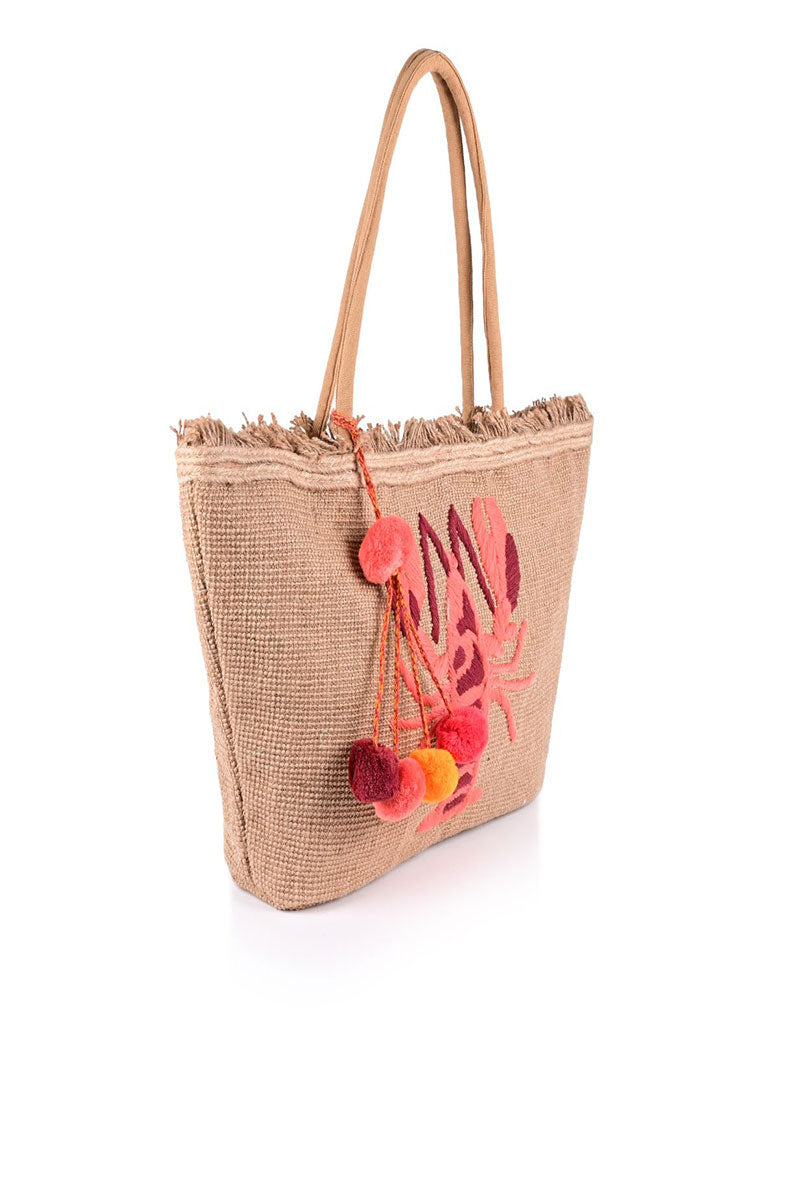 Lobster Tote Bag with Tassel