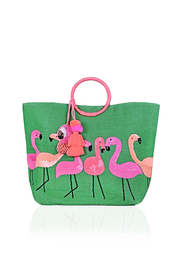 Jelly Bean Flamingo Tote