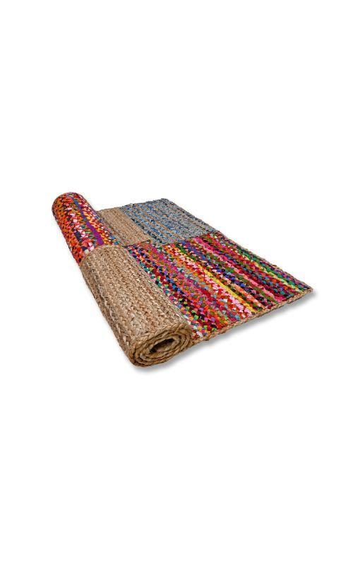 Jute-Denim Patch Multi Rug