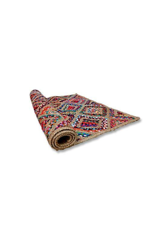 Diamond Design Jute Multi Rug