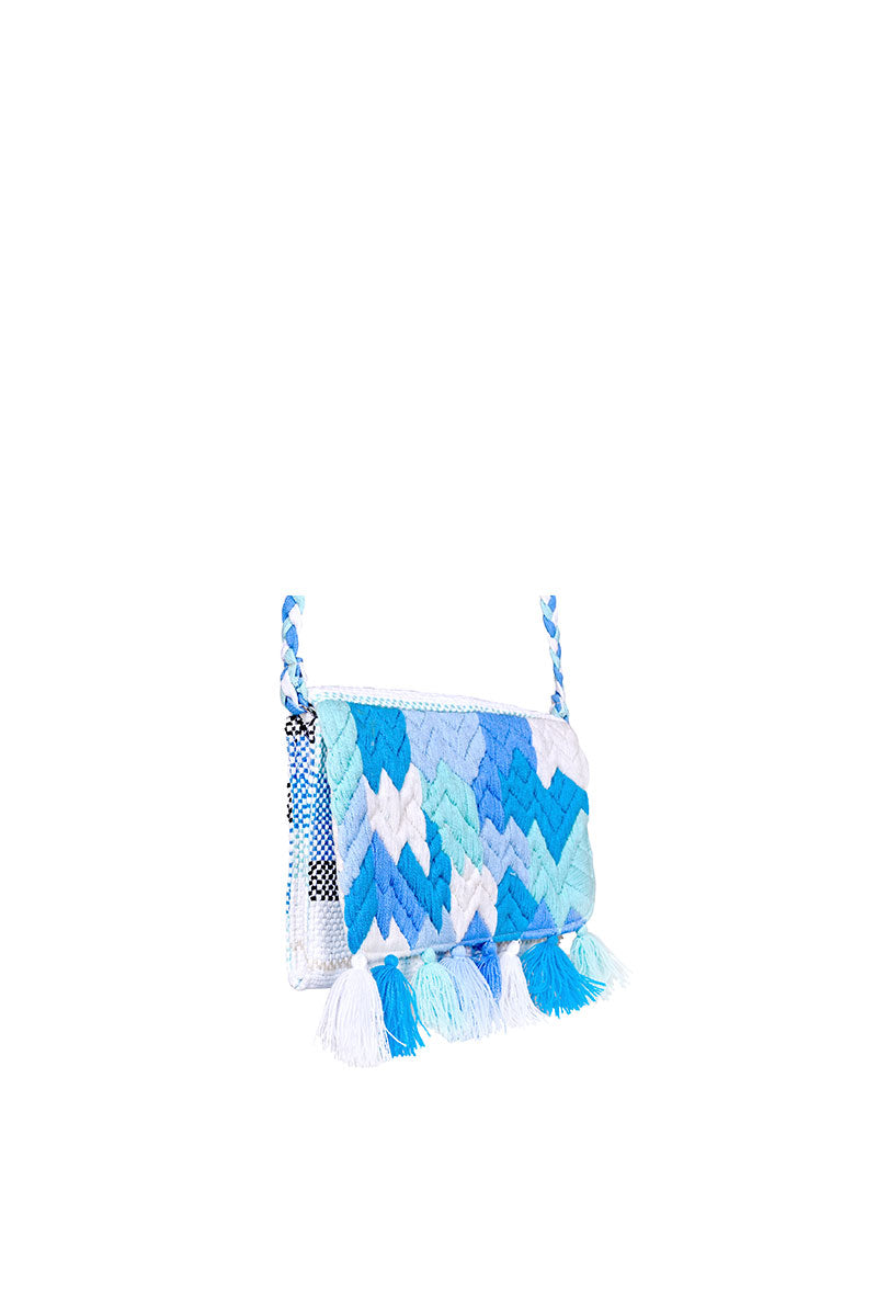Ocean Wave Flap Clutch | Cross Body Bag