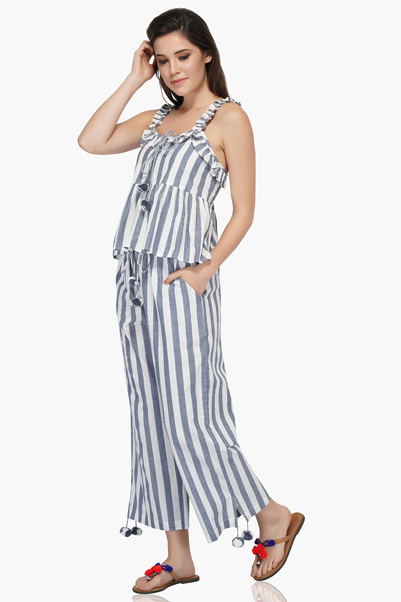 Manatee Striped Boho Tops for Women