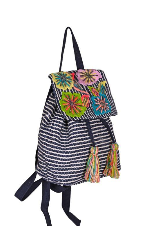 Fanciful Floral Stripe Backpack - Kidz