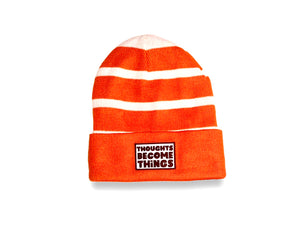 Striped Thoughts Become Things Beanie