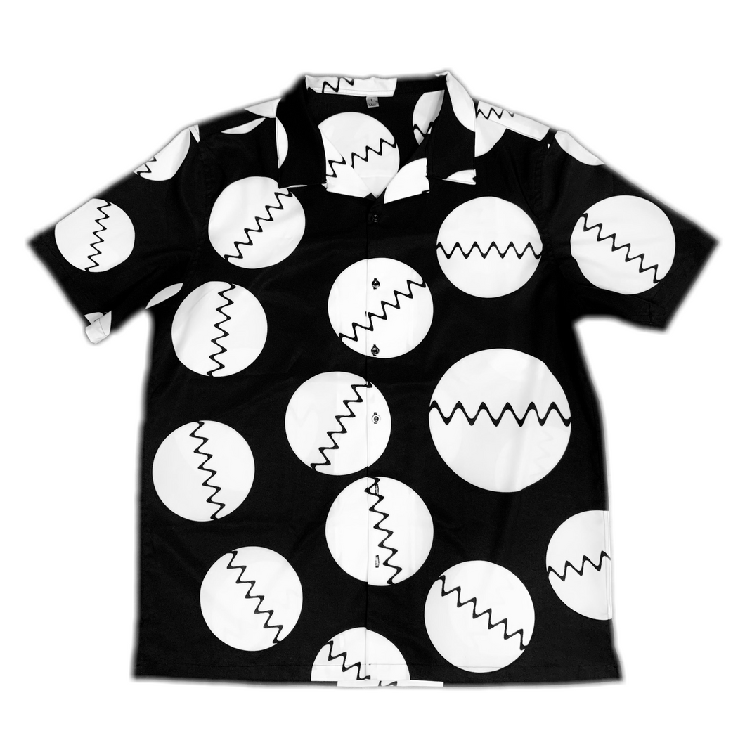 Black Fractal Button Up