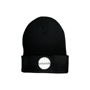 Inverted LOA Black Beanie