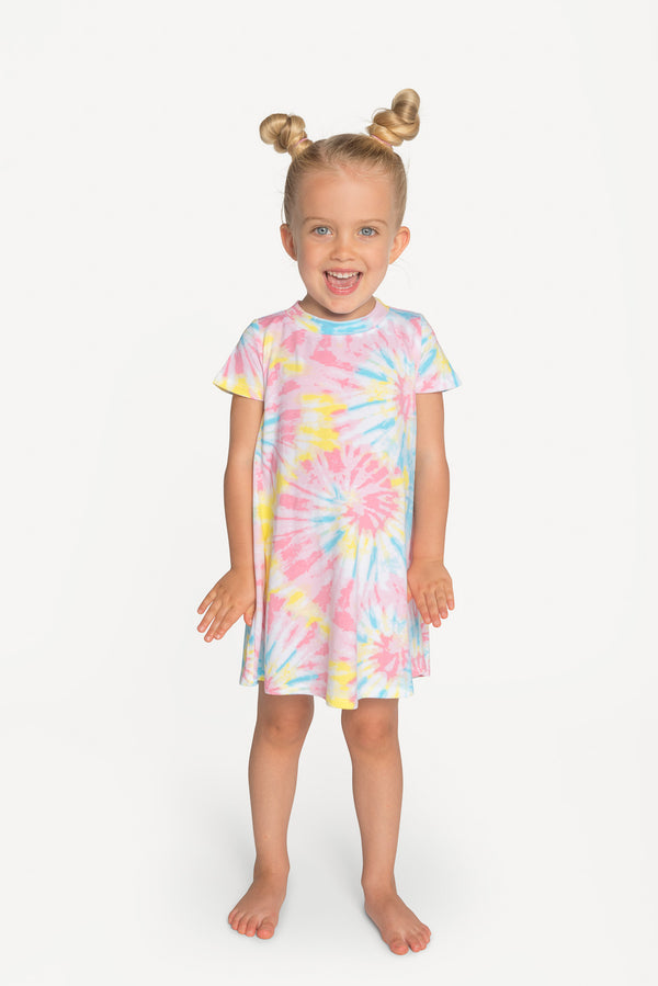 Cotton Candy Tie Dye - Lounge Dress