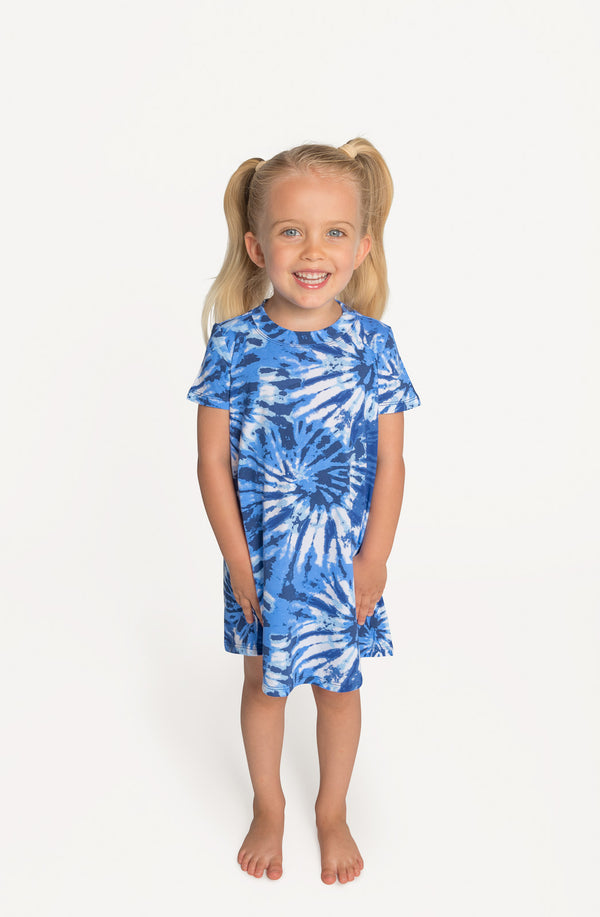 Blue Tie-Dye - Lounge Dress