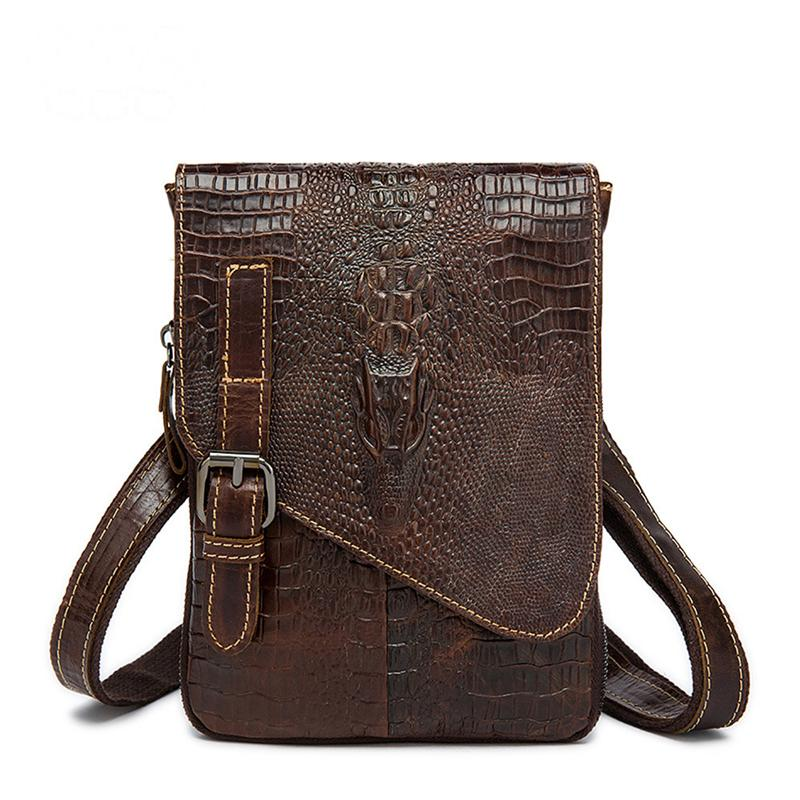 Men's Classic Alligator Pattern Multifunctional Crossbody Bags