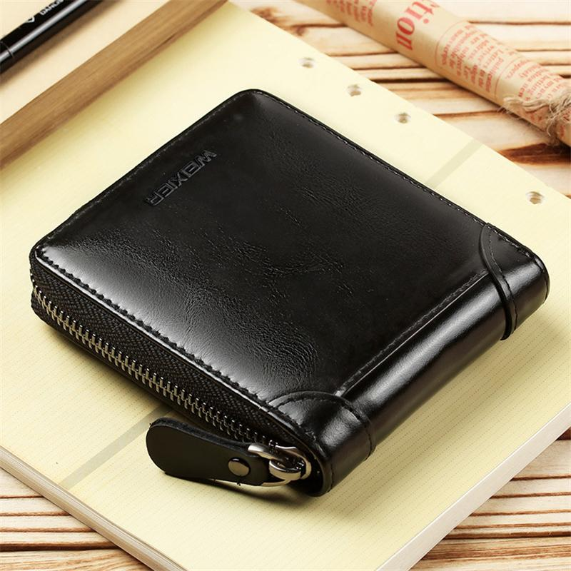 Vintage Leather Mini Wallet