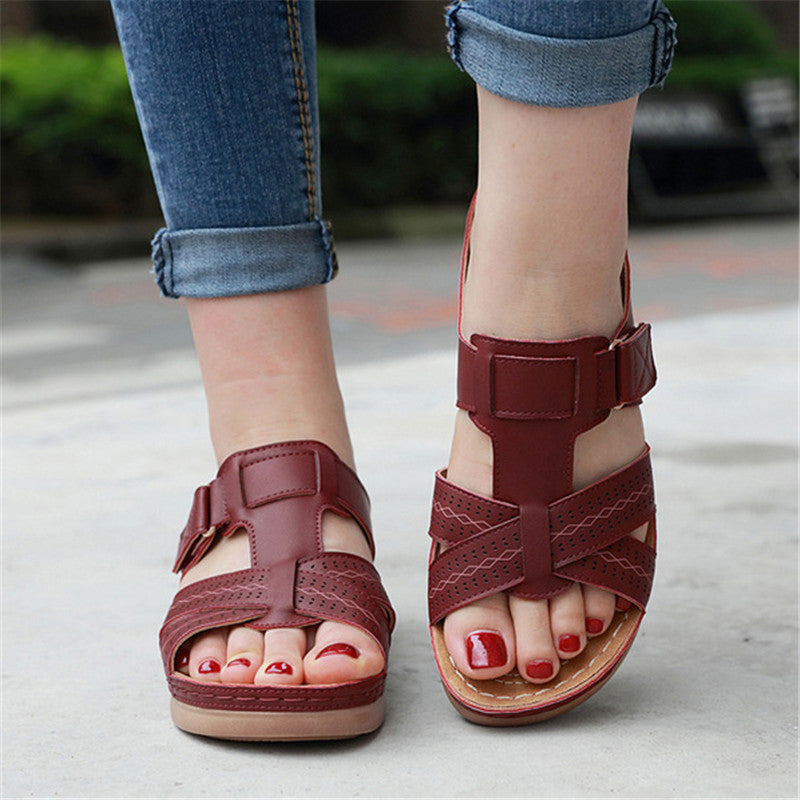 Plus Size Comfort Wedge Heel Beach Sandals For Women