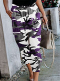 Casual Camouflage Printed Cotton Trousers