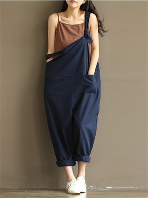 Women's Fashion Plus Size Cotton Casual Jumpsuits