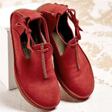 Women Casual Super Comfort Lace-Up Flat Loafers Closed Toe Sandals
