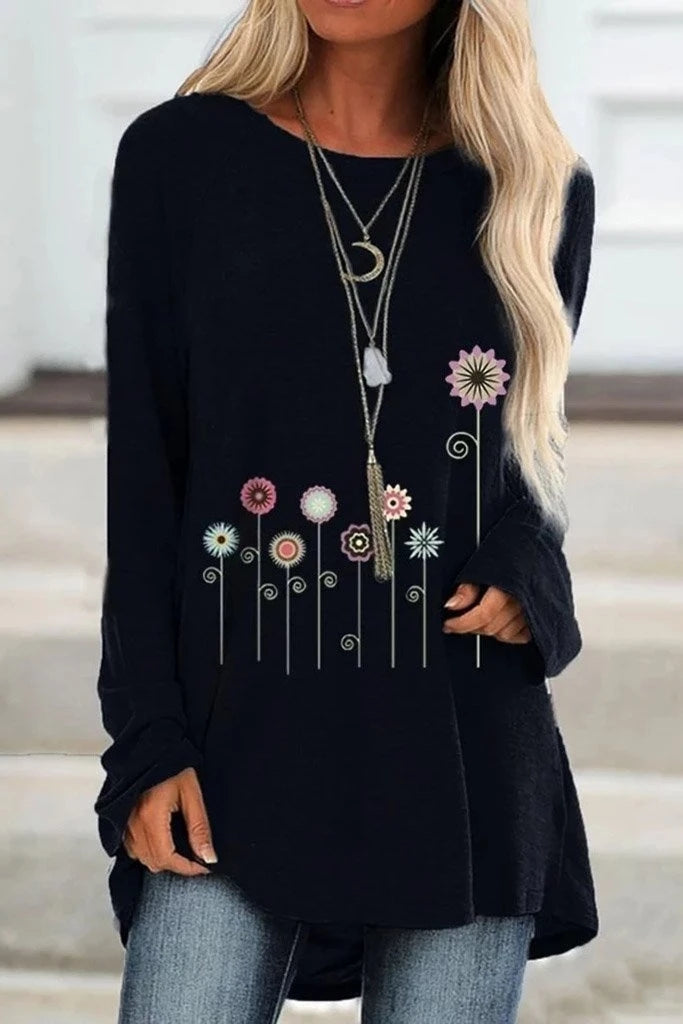 Women's Pretty Long Sleeved Cotton Fashion T-Shirt