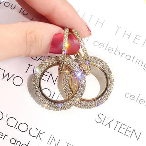 Fashion Crystal Circle Earrings