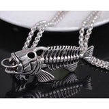Cool Fishbone Pendant Necklace