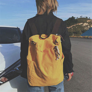 Simple Design Chic Canvas Backpacks For Men and Women