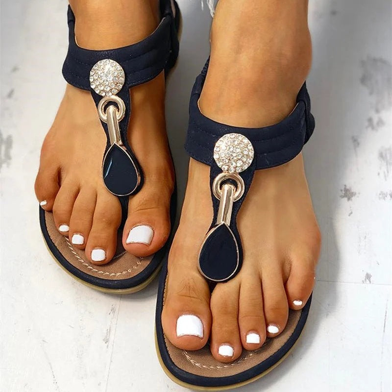 Comfortable Rhinestone Summer Beach Sandals