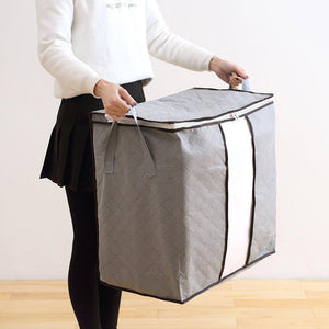 Large Capacity Foldable Bamboo Charcoal Clothes Storage Bag 62L