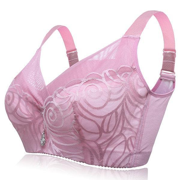 Women's Plus Size Wireless Soft Full Cup Bras