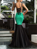 Stunning Sequined Backless Sleeveless Dress for Prom