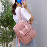 Women's Multi Functional Fashion Travel Backpack With USB Charge Port