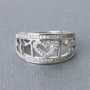 Fashion Jewelry Gift Crystal Mom Ring