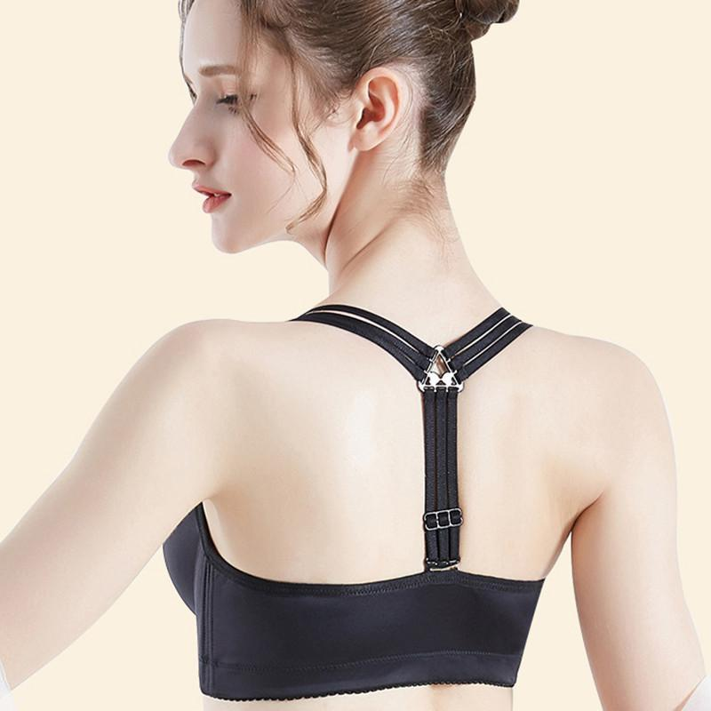 Beautiful Cross Straps Front Closure Wireless Bras