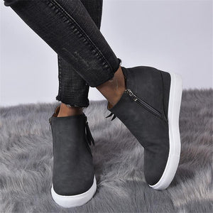 Womens Casual Comfy Wedge Boots