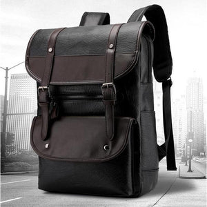Stylish Leather Casual Multifunction Travel Backpack