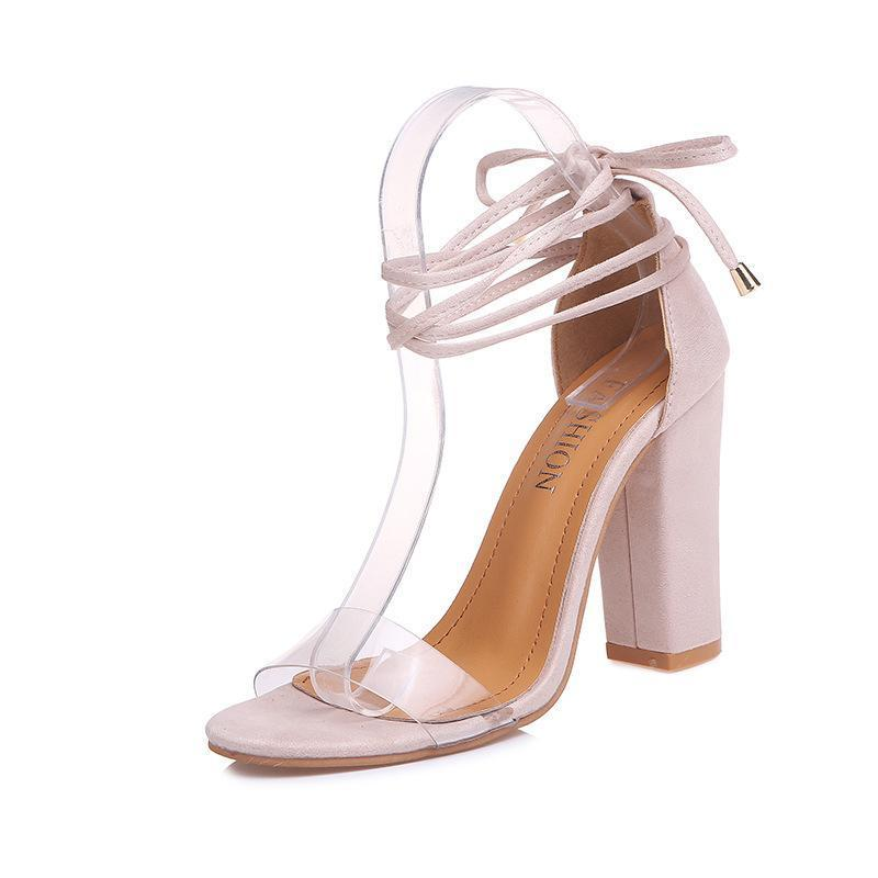 Transparent Upper With High Heel Sandals