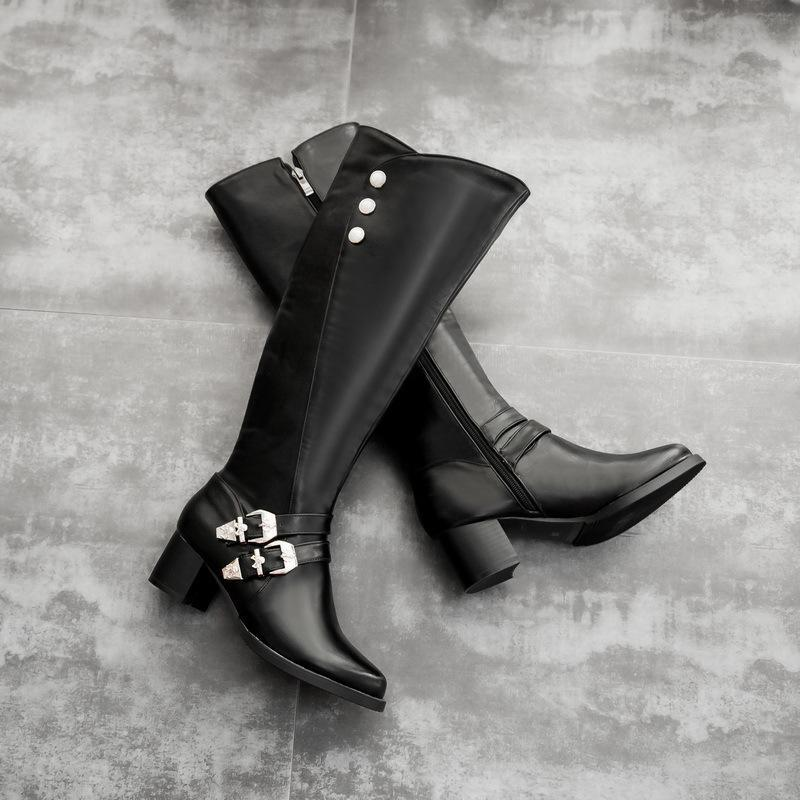 Vintage Chunky Heel High Martin Boots