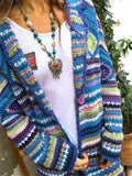 Women's Casual Colourful Long Sleeve Knitted Coat