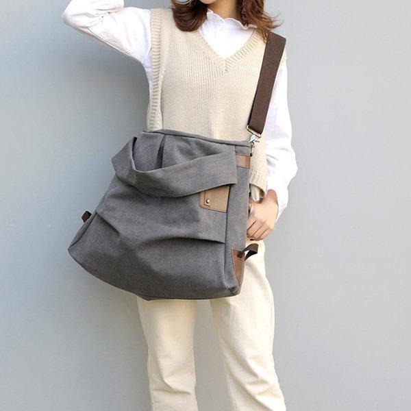 Canvas Casual Large Capacity Tote Handbag Crossbody Bag