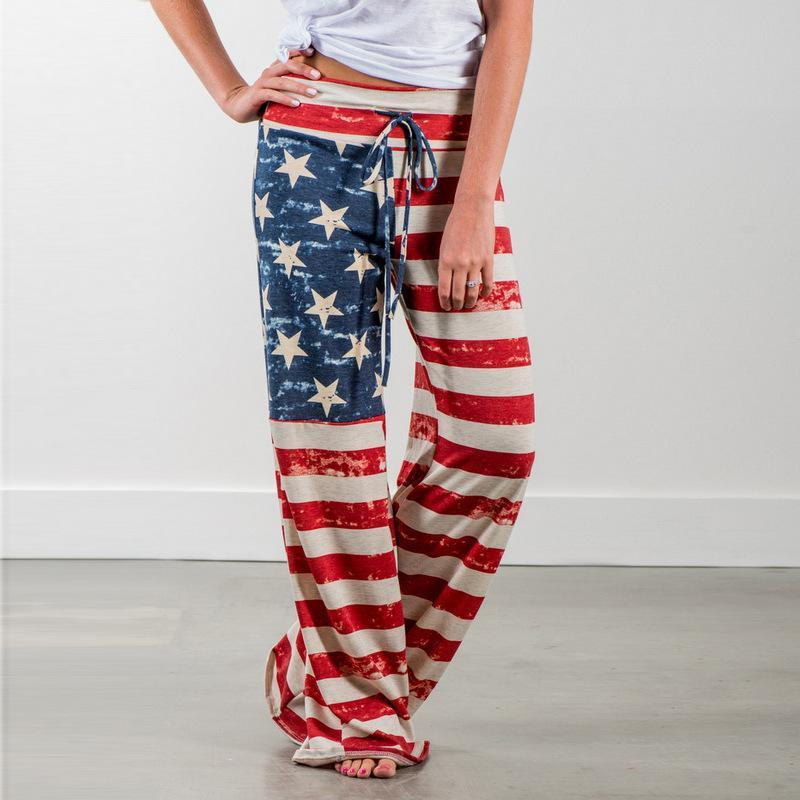 Comfortable USA Flag Casual Loose Pants