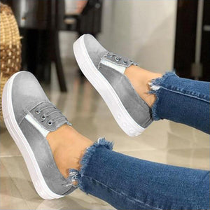 Women's Cute Casual Flat Canvas Shoes