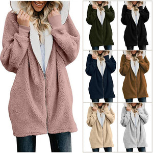 Sweet and Adorable Zipper Hoodie Coat