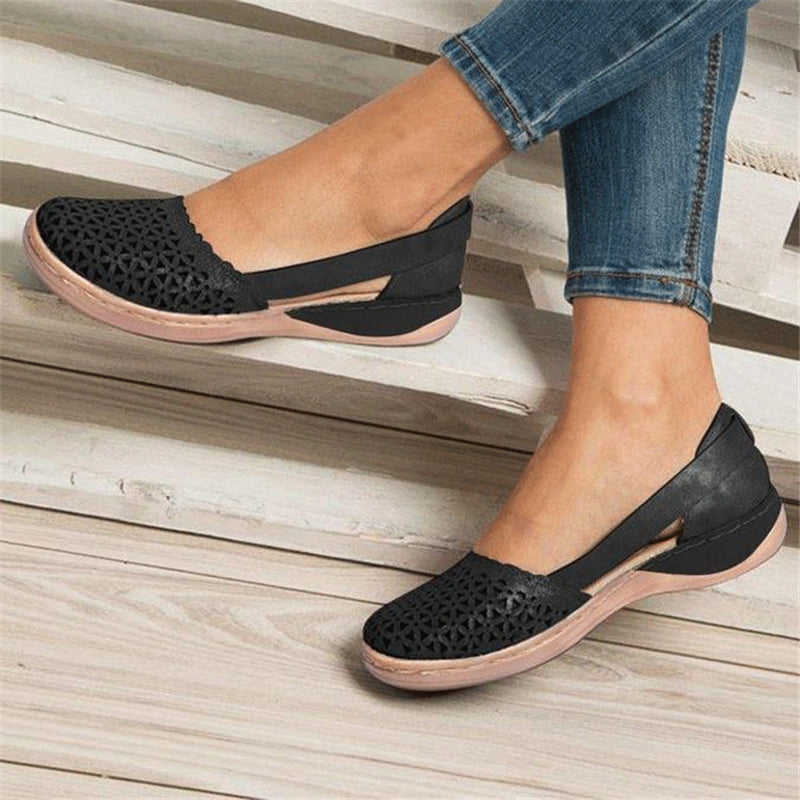Women's Hollow Out Breathable Comfort Casual Flat Sandals